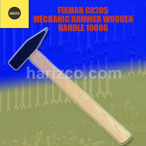 PALU - FIXMAN C0205 MECHANIC HAMMER WOODEN HANDLE 1000G