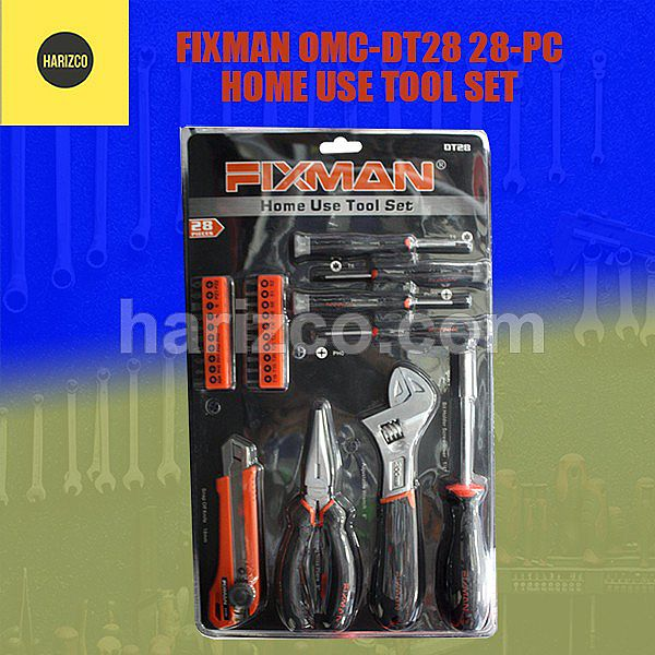 Tools Set - FIXMAN OMC-DT28 28-PC HOME USE TOOL SET